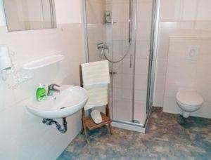 Badezimmer in unserer Ferienwohnung